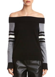 Bailey 44 Color-Block Off-the-Shoulder Sweater