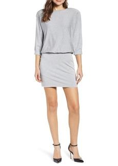 Bailey 44 Cuddled Up Blouson Fleece Sweatshirt Dress