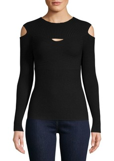 Bailey 44 Cut-Out Ribbed Sweater
