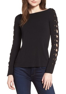 Bailey 44 Date Night Lace-Up Sleeve Knit Top