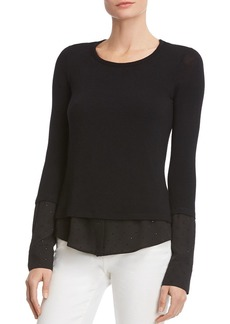 Bailey 44 Embellished Layered-Look Top