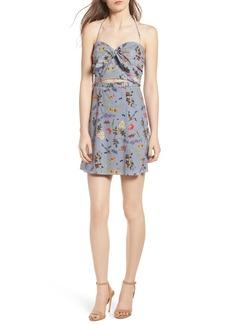 Bailey 44 English Garden Cutout Halter Dress
