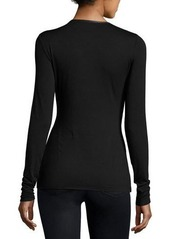 Bailey 44 Faux-Wrap Front Jersey Top