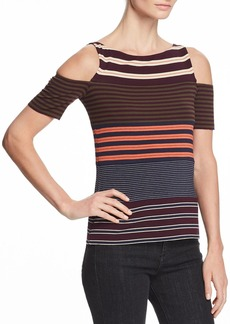Bailey 44 Garam Masala Striped Cold-Shoulder Top