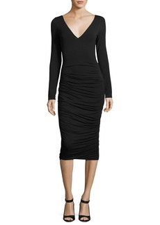 Bailey 44 Go The Distance Ruched Midi Dress
