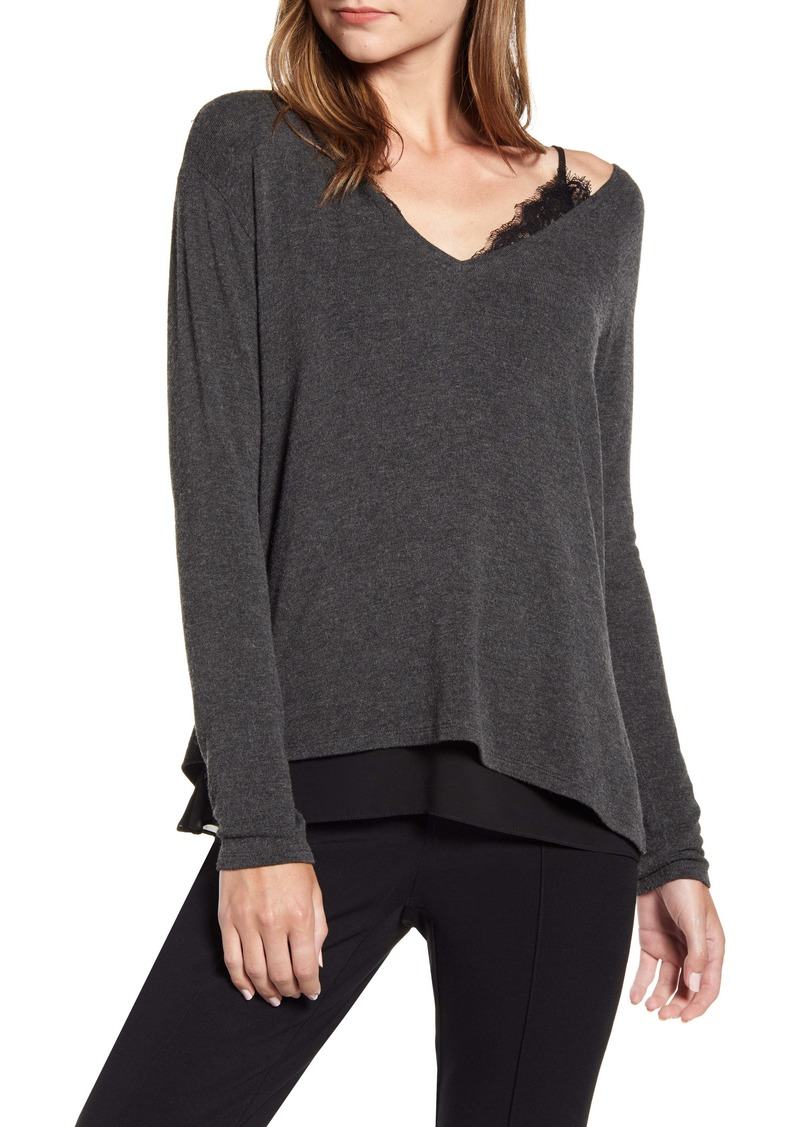 Bailey 44 Hannah Off the Shoulder V-Neck Sweater