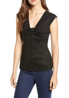 Bailey 44 Hard Target Faux Suede Top