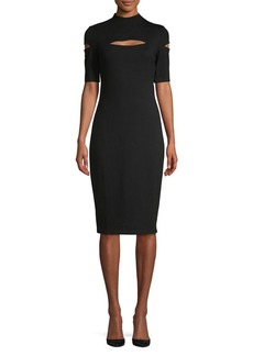 Bailey 44 Highneck Cutout Sheath Dress