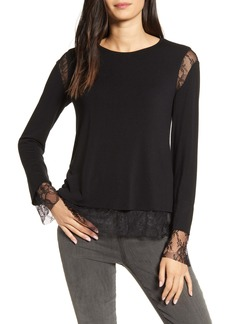 Bailey 44 Isabel Lace Trim Top