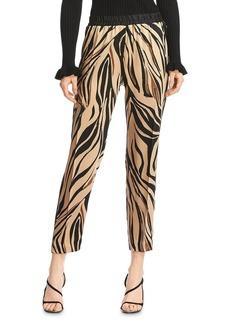 Bailey 44 Kyle Satin Zebra Print Pants