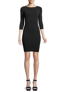 Bailey 44 Lace-Up Back 3/4-Sleeve Body-Con Cocktail Dress
