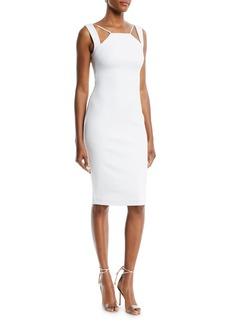Bailey 44 Lal Mirch Cutout-Neck Midi Sheath Dress