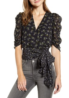 Bailey 44 Lilian Fall Leaves Georgette Wrap Top