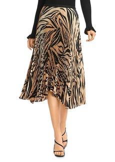 Bailey 44 Logan Pleated Zebra Print Skirt