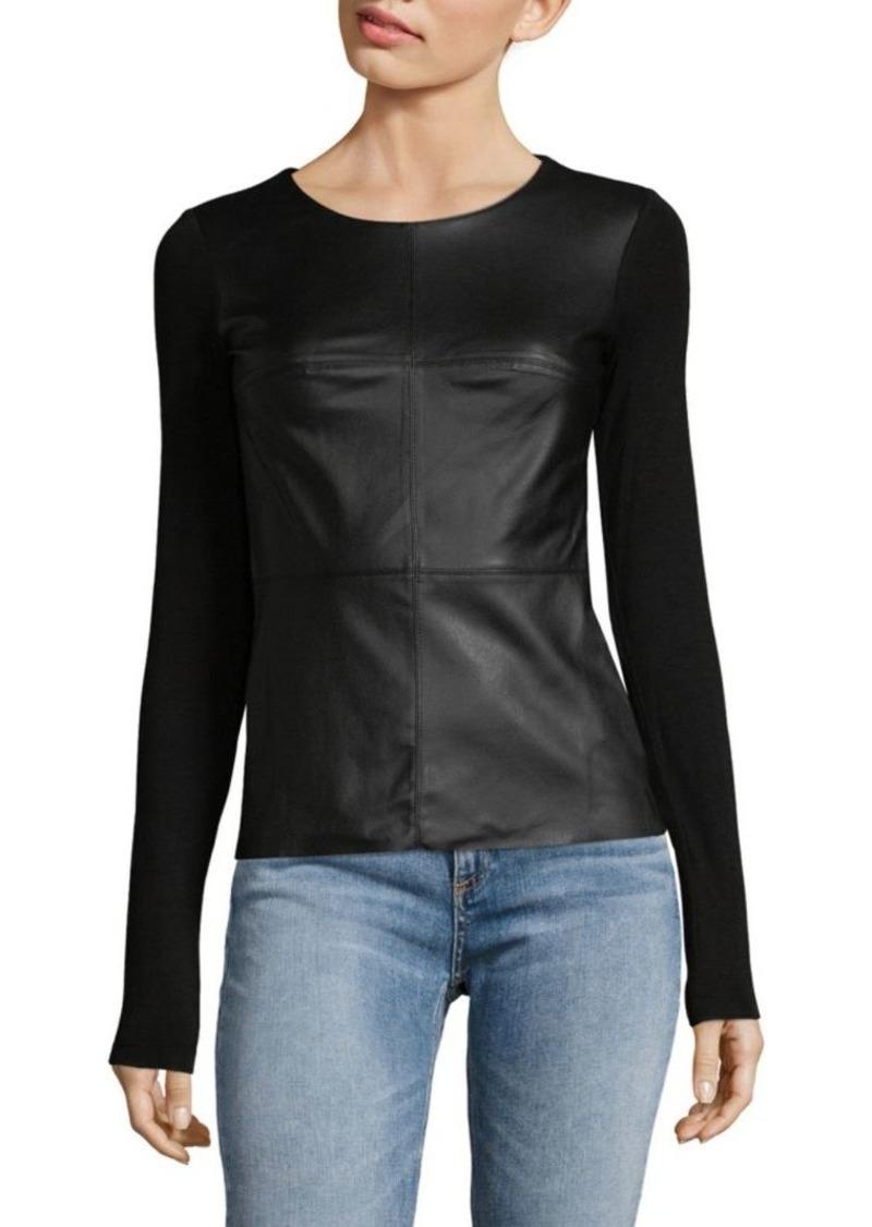 959f31d3eccf9 Bailey 44 Long Sleeve Faux Leather Top
