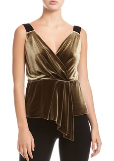 Bailey 44 Mabel Draped Velvet Top