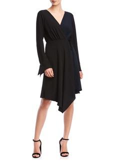 Bailey 44 Marilyn Long Sleeve Handkerchief Hem Wrap Dress