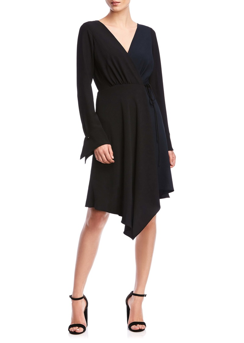 Bailey 44 Marilyn Long Sleeve Handkerchief Hem Wrap Dress