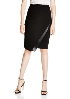 Bailey 44 Meryl Faux Leather-Trimmed Pencil Skirt
