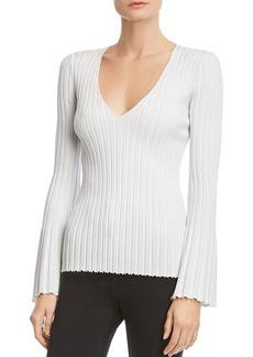Bailey 44 Metallic Bell-Sleeve Sweater