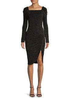 Bailey 44 Metallic Puff-Sleeve Dress