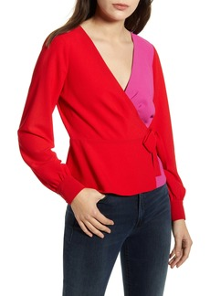 Bailey 44 Nina Colorblock Wrap Top