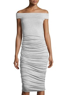 Bailey 44 Off-the-Shoulder Side-Ruched Dress