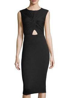Bailey 44 Peekaboo Front-Twist Dress
