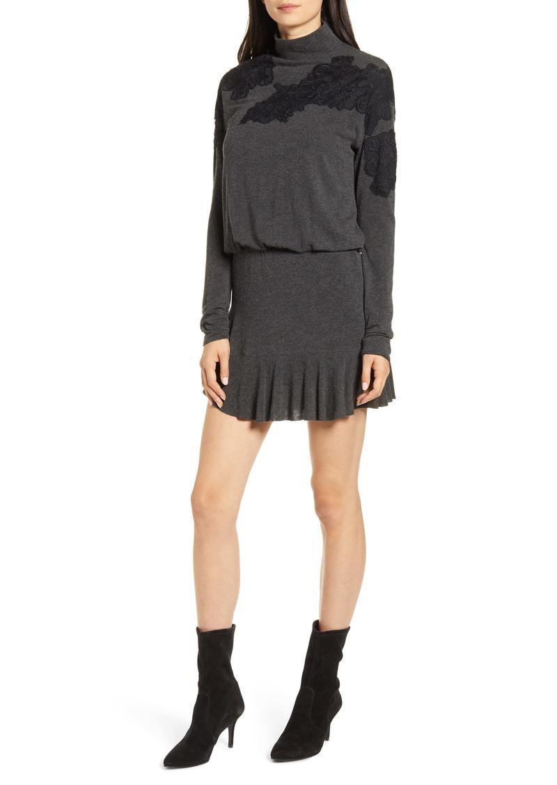 Bailey 44 Pippa Long Sleeve Appliqué Minidress