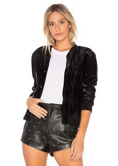 Bailey 44 Rite of Night Bomber Jacket in Black. - size S (also in XS,M,L)