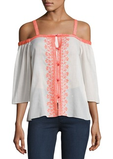 Bailey 44 Rose Water Cold Shoulder Cotton Top
