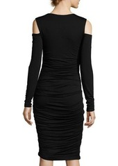 Bailey 44 Ruched Jersey Cold-Shoulder Dress