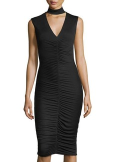 Bailey 44 Ruched Jersey Sleeveless Dress