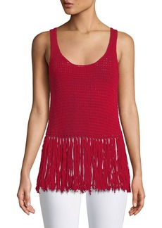 Bailey 44 Sage Brush Sleeveless Fringe Sweater