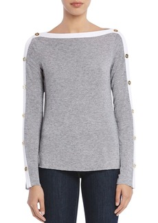 Bailey 44 Sailor Button-Sleeve Sweater