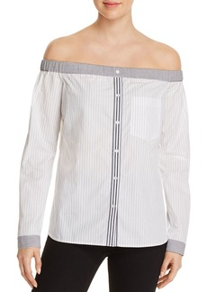 Bailey 44 Shibui Striped Off-the-Shoulder Shirt