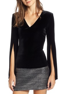 Bailey 44 Split Sleeve Velvet Top