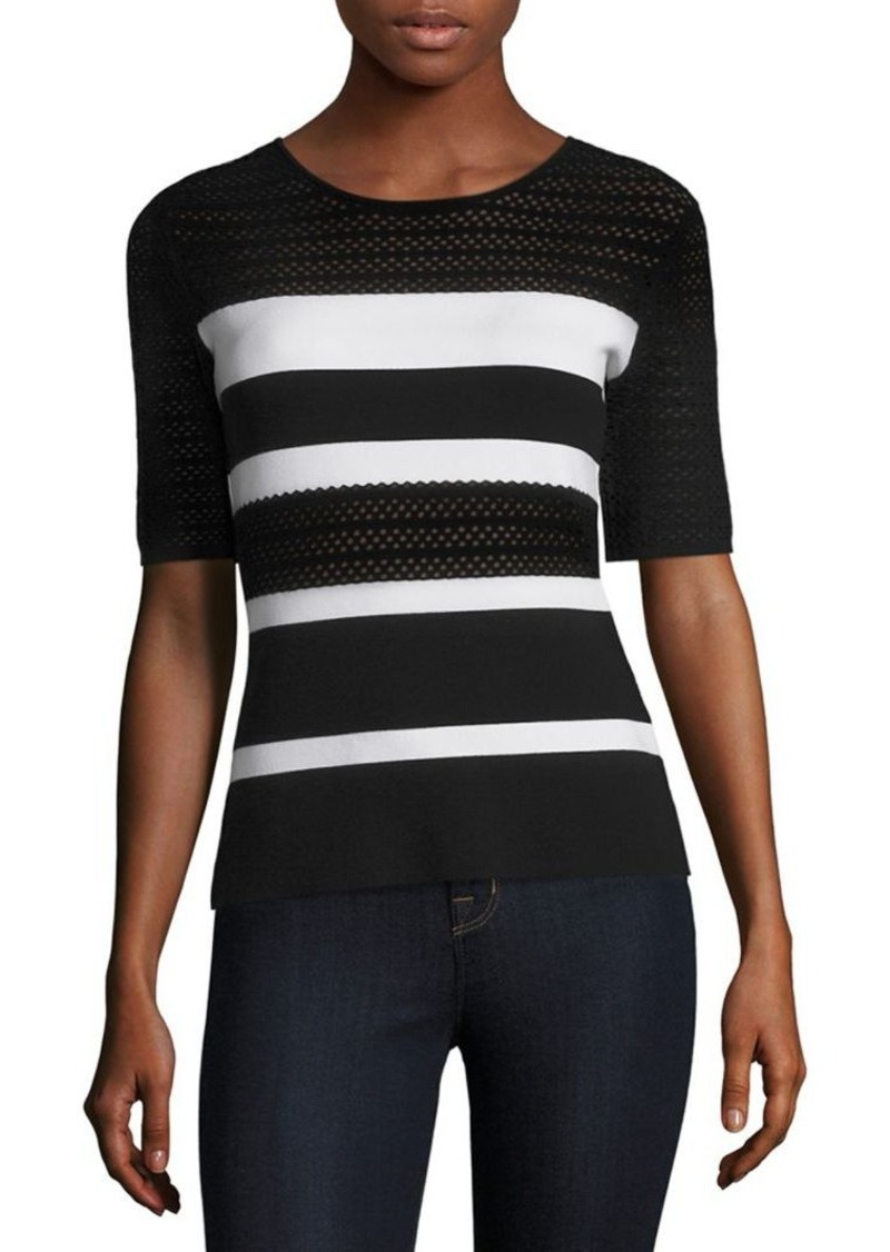 Bailey 44 Staggered Start Stripe Sweater