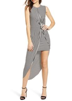 Bailey 44 Stripe Asymmetrical Dress