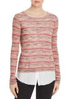 Bailey 44 Striped Layered-Look Sweater