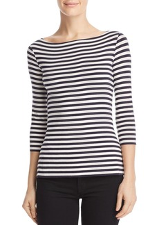 Bailey 44 Succulent Lace-Up Striped Top