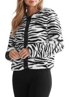 Bailey 44 Sullivan Zebra-Stripe Faux Fur Jacket - 100% Exclusive