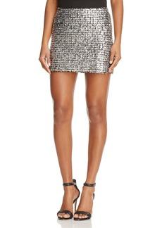 Bailey 44 Supreme Metallic Knit Mini Skirt