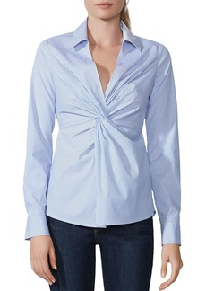 Bailey 44 Tallula Twist-Front Striped Shirt