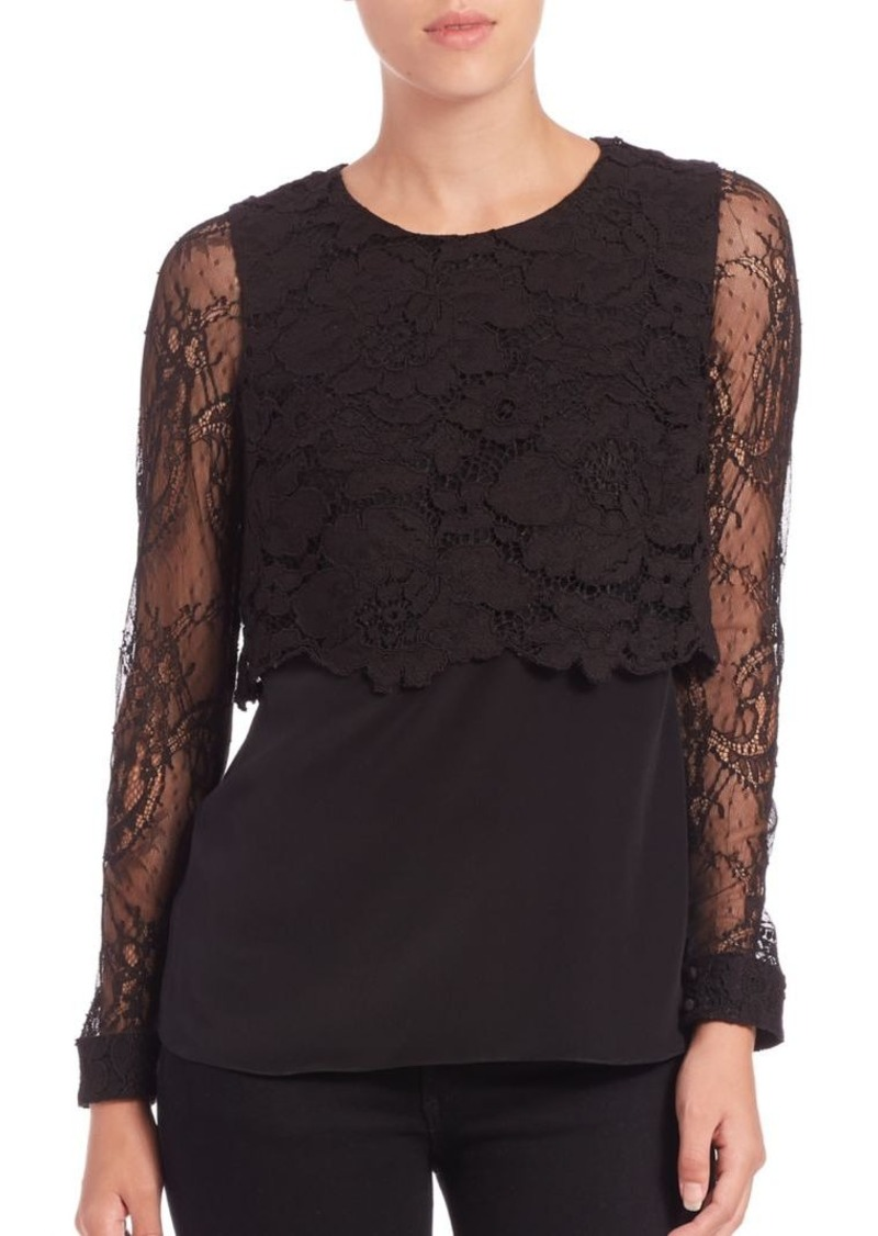 Bailey 44 True Love Lace Overlay Top