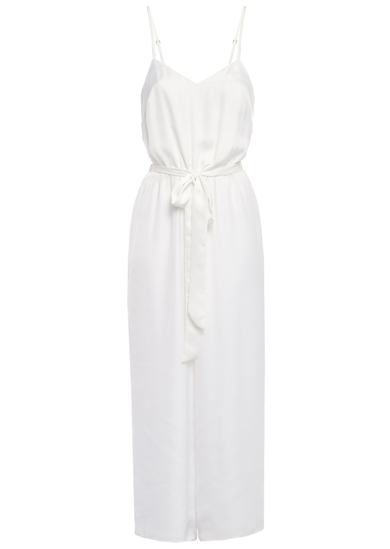 Bailey 44 Woman Belted Satin Jumpsuit White