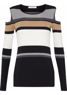 Bailey 44 Woman Celeste Cold-shoulder Striped Stretch-jersey Top Black
