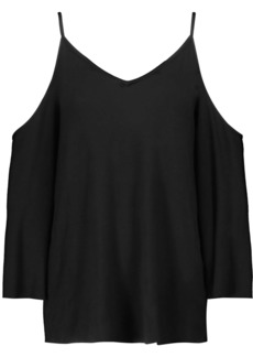 Bailey 44 Woman Cold-shoulder Jersey Top Black