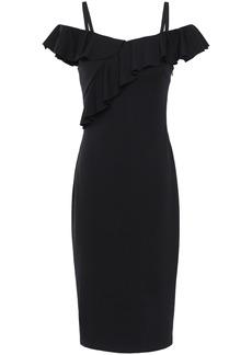 Bailey 44 Woman Cold-shoulder Ponte Dress Black