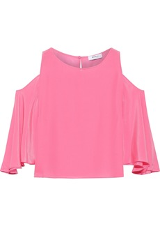 Bailey 44 Woman Cold-shoulder Silk Top Pink